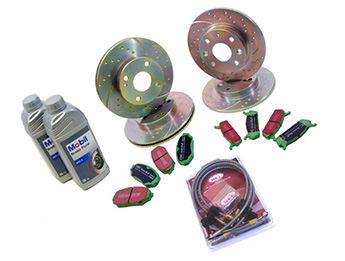 Discs & Pads Package, Ultimate Sports, MX5 Mk2/2.5 Standard